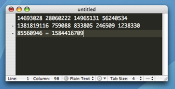 Math Result in TextMate