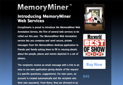 MemoryMiner Web Services