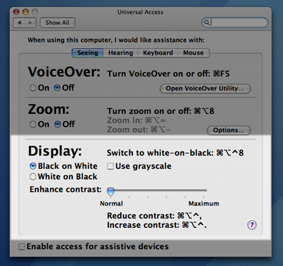 Universal Access System Preferences Pane