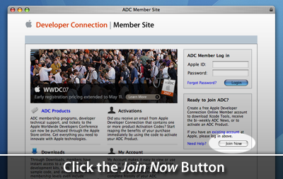 ADC Connect Home Page