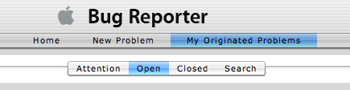 Apple Bug Reporter Issue Filters