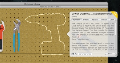 Delicious Libary 2 Tools