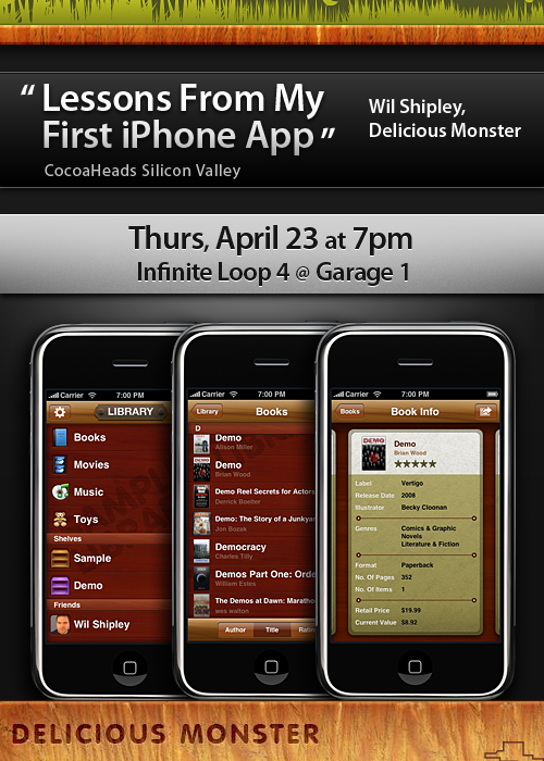 CocoaHeads: Delicious Monster iPhone